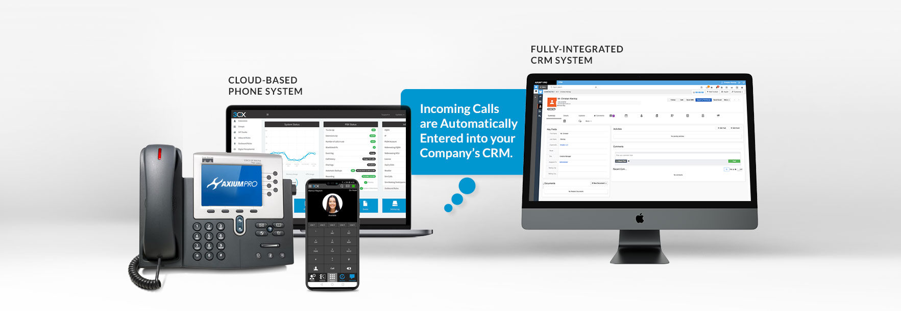 Incoming Calls are Automatically Entered into your Company's CRM.